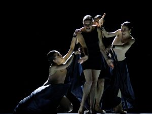 Duosi Zhu, Kate Strong, Chantelle Kerr - The World According to Us - Semperoper Ballett - photo © Costin Radu