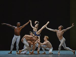 Eric Underwood, Melissa Hamilton, Edward Watson, Dawid Trzensimiech, Steven McRae, Johannes Stepanek - The Human Seasons - The Royal Ballet - photo © Dave Morgan