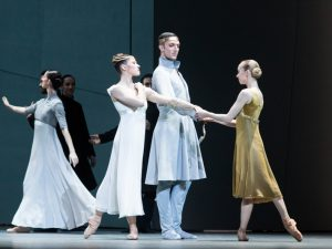 Courtney Richardson, Raphaël Coumes-Marquet and Anna Merkulova - Tristan + Isolde - Semperoper Ballett - photo © Ian Whalen
