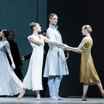 Courtney Richardson, Raphaël Coumes-Marquet and Anna Merkulova - Tristan + Isolde - Semperoper Ballett - photo © Ian Whalen