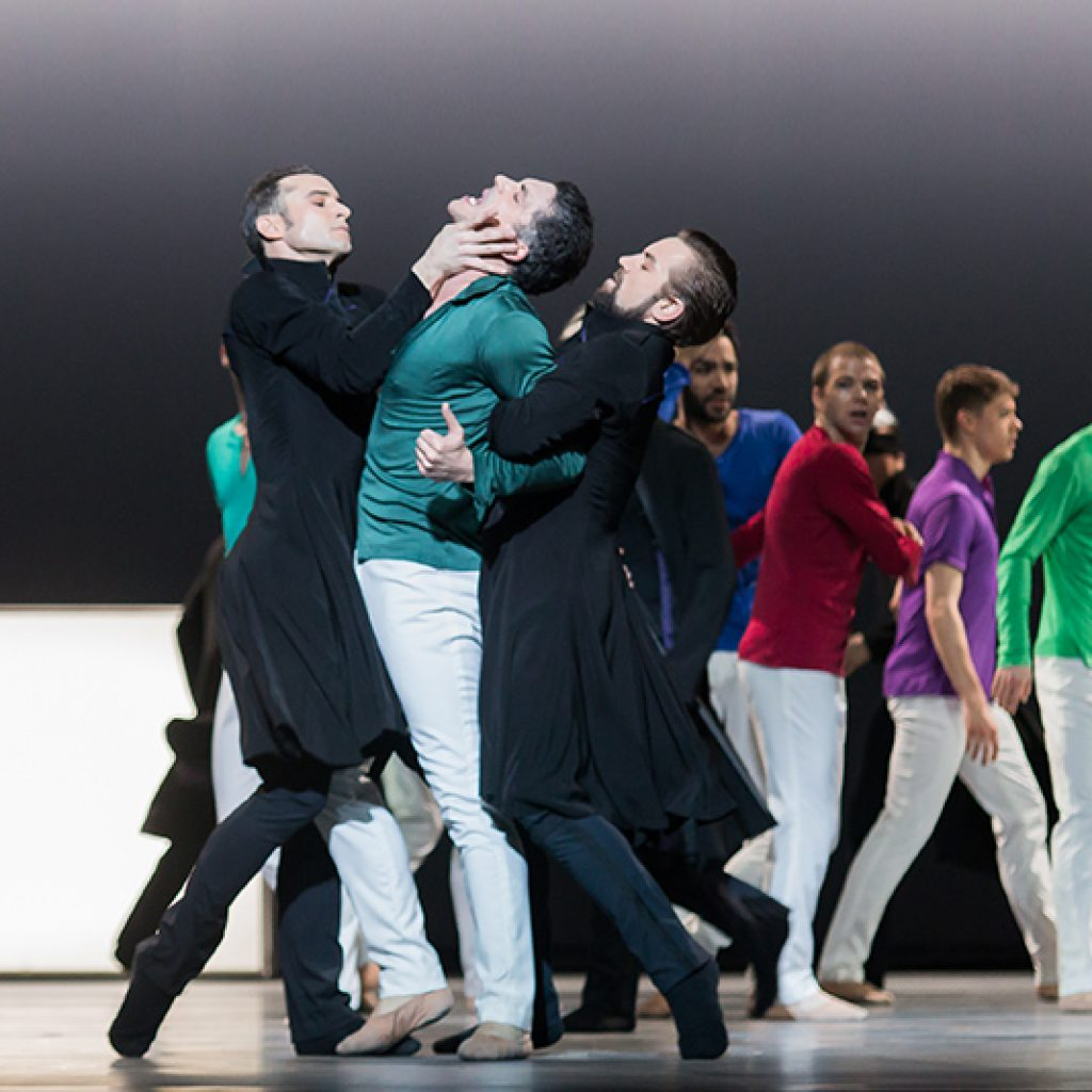 Fabien Voranger, Laurent Guilbaud and Jon Vallejo - Tristan + Isolde - Semperoper Ballett - photo © Ian Whalen