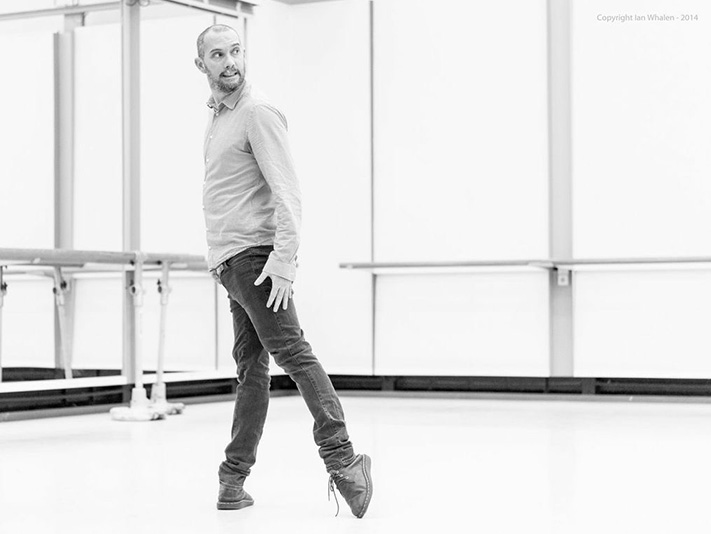 David Dawson in Ballet Studio - photo by Ian Whalen
